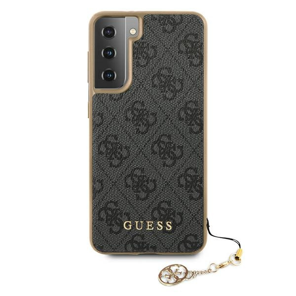 s21 plus - guess guhcs21mgf4ggr samsung galaxy s21+ plus grey hardcase 4g charms collection - 3 - krytaren.sk