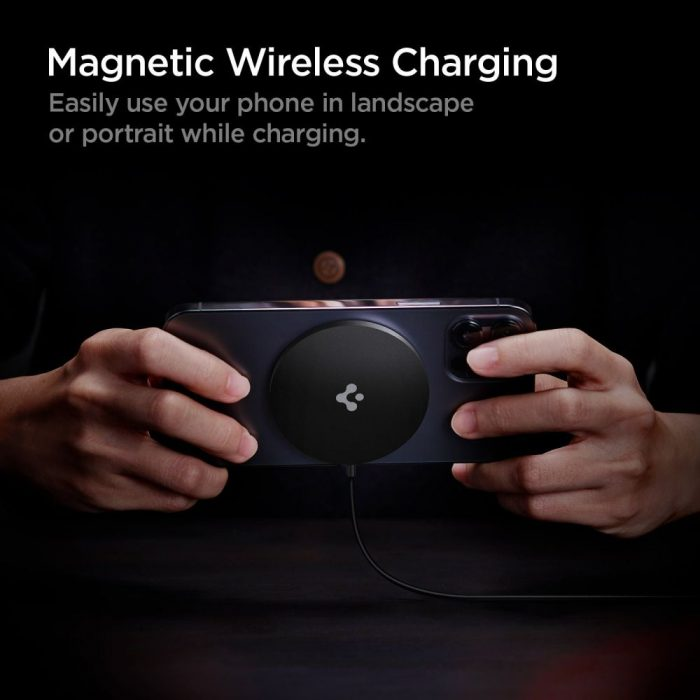 wireless chargers - spigen powerarc pf009 magnetic magsafe wireless charger 7.5w black - 5 - krytaren.sk