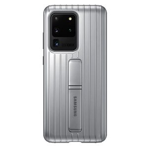 S20 Ultra - Samsung Galaxy S20 Ultra EF-RG988CS silver Protective Standing Cover - 1 - krytaren.sk