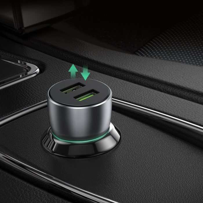 car chargers - ugreen fast car charger 2x usb quick charge 3.0 36 w 3 a gray (cd213 60713) - 5 - krytaren.sk