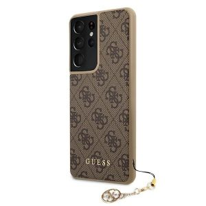 S21 Ultra - Guess GUHCS21LGF4GBR Samsung Galaxy S21 Ultra brown hardcase 4G Charms Collection - 2 - krytaren.sk