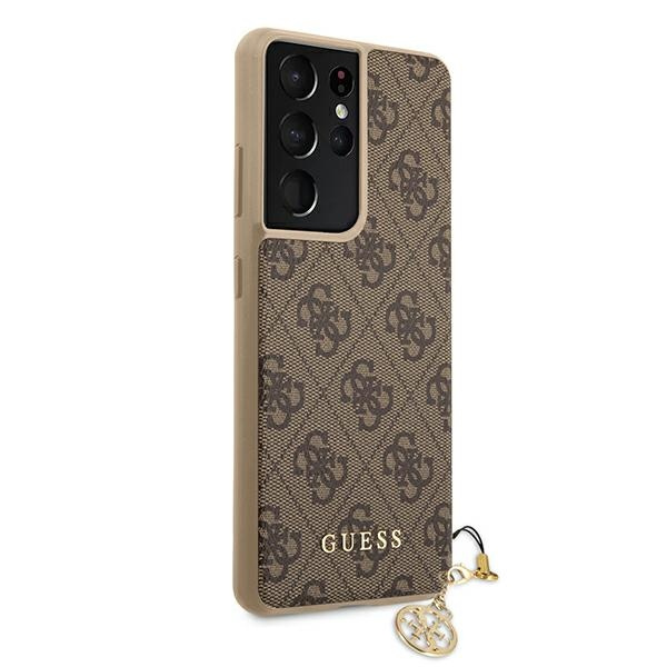 s21 ultra - guess guhcs21lgf4gbr samsung galaxy s21 ultra brown hardcase 4g charms collection - 4 - krytaren.sk