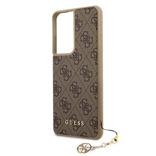 s21 ultra - guess guhcs21lgf4gbr samsung galaxy s21 ultra brown hardcase 4g charms collection - 5 - krytaren.sk