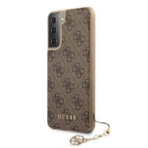 S21 Plus - Guess GUHCS21MGF4GBR Samsung Galaxy S21+ Plus brown hardcase 4G Charms Collection - 2 - krytaren.sk