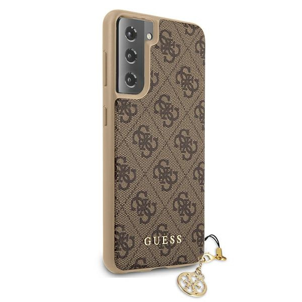 s21 plus - guess guhcs21mgf4gbr samsung galaxy s21+ plus brown hardcase 4g charms collection - 4 - krytaren.sk