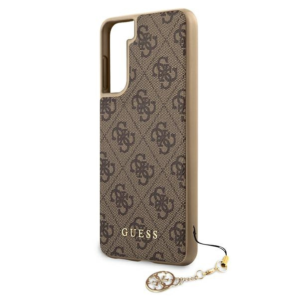 s21 plus - guess guhcs21mgf4gbr samsung galaxy s21+ plus brown hardcase 4g charms collection - 6 - krytaren.sk