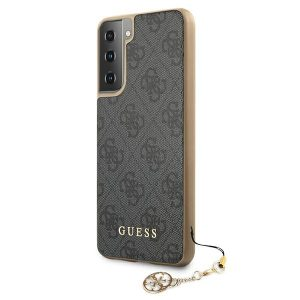 S21 Plus - Guess GUHCS21MGF4GGR Samsung Galaxy S21+ Plus grey hardcase 4G Charms Collection - 2 - krytaren.sk