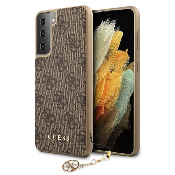 s21 - guess guhcs21sgf4gbr samsung galaxy s21 brown hardcase 4g charms collection - 1 - krytaren.sk