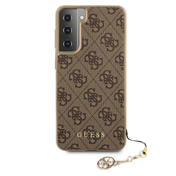 s21 - guess guhcs21sgf4gbr samsung galaxy s21 brown hardcase 4g charms collection - 3 - krytaren.sk