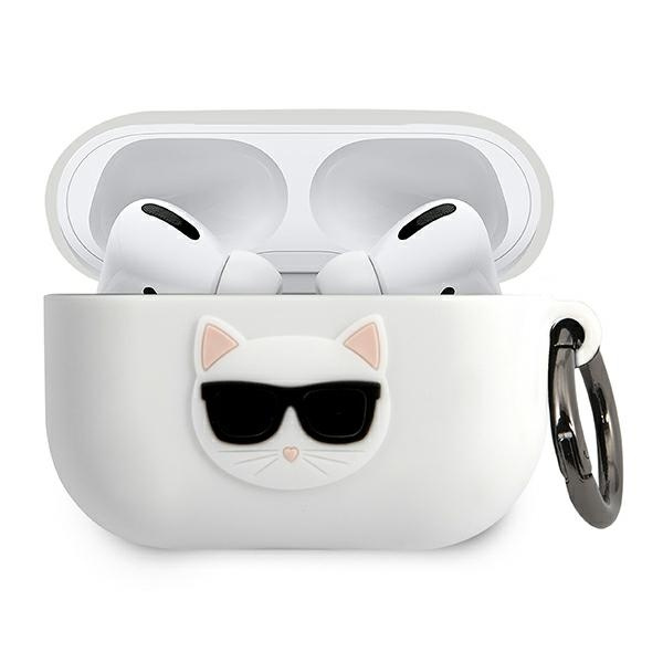 airpods - karl lagerfeld klacapsilchwh apple airpods pro cover white silicone choupette - 1 - krytaren.sk