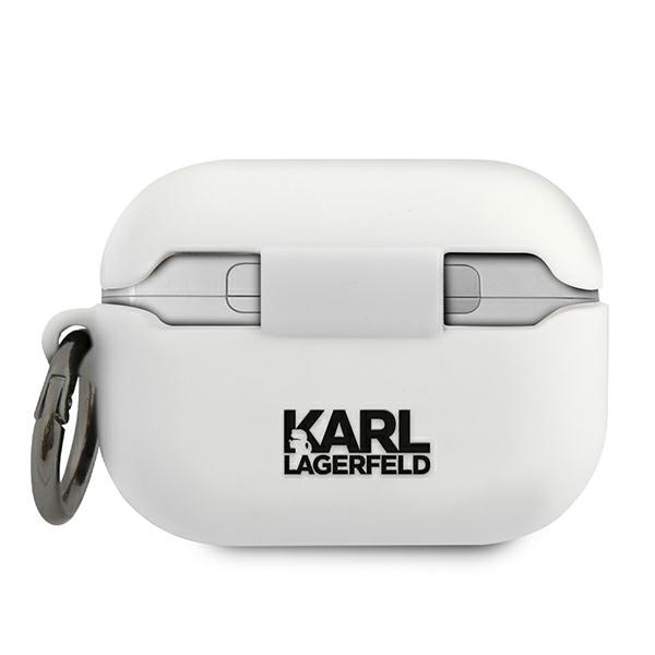 airpods - karl lagerfeld klacapsilglwh apple airpods pro cover white silicone ikonik - 2 - krytaren.sk