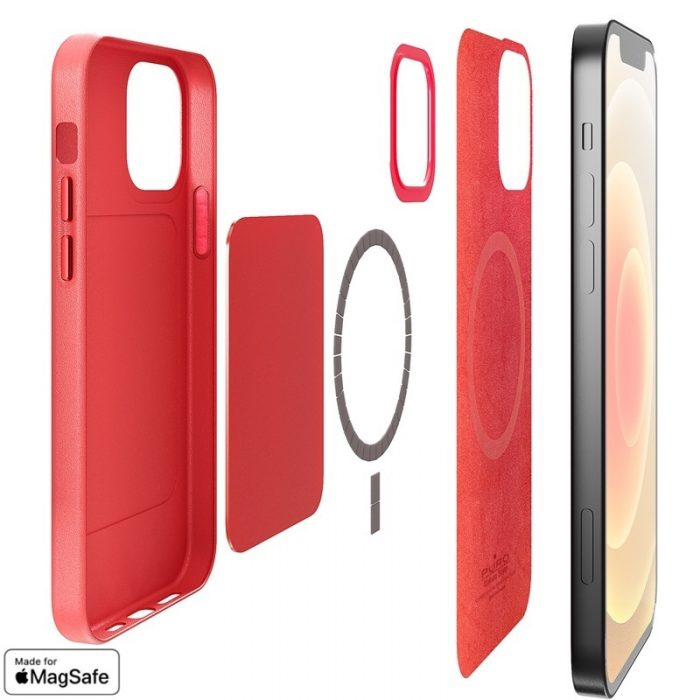 iphone 12 pro - puro skymag magsafe apple iphone 12/12 pro (red) - 2 - krytaren.sk