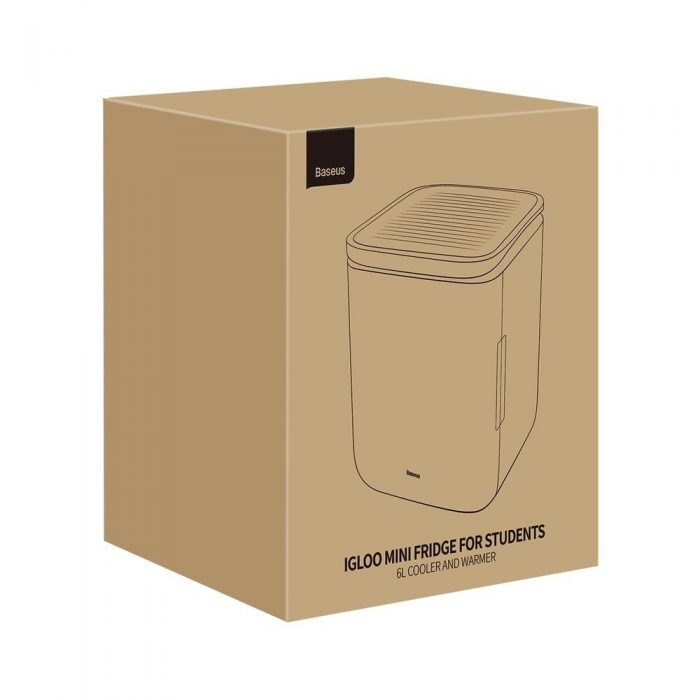 other accessories - baseus igloo mini fridge for students 6l eu (cooler and warmer) (acxbw-a02) white - 5 - krytaren.sk