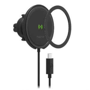Mounts - Mophie Snap+ Wireless Charge Vent Mount MagSafe 15W (black) - 1 - krytaren.sk