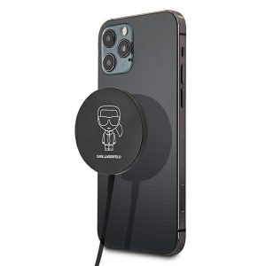 Wireless chargers - Karl Lagerfeld Wireless Charger KLCBMSIKBK 15W MagSafe - 1 - krytaren.sk