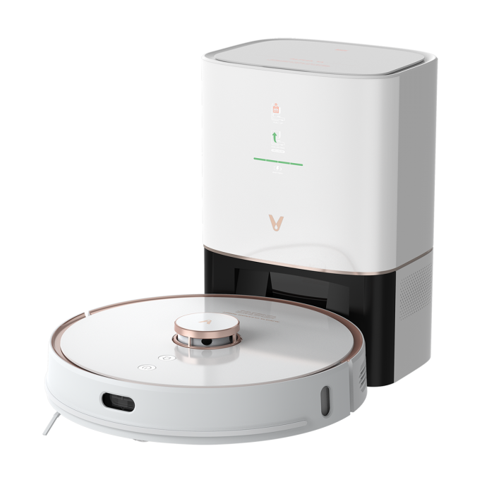 cleaning & disinfection - intelligent vacuum cleaner viomi s9 with emptying station (white) - 1 - krytaren.sk