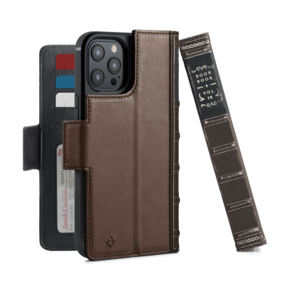 iphone 12 pro max - twelve south bookbook leather magsafe apple iphone 12 pro max (brown) - 1 - krytaren.sk