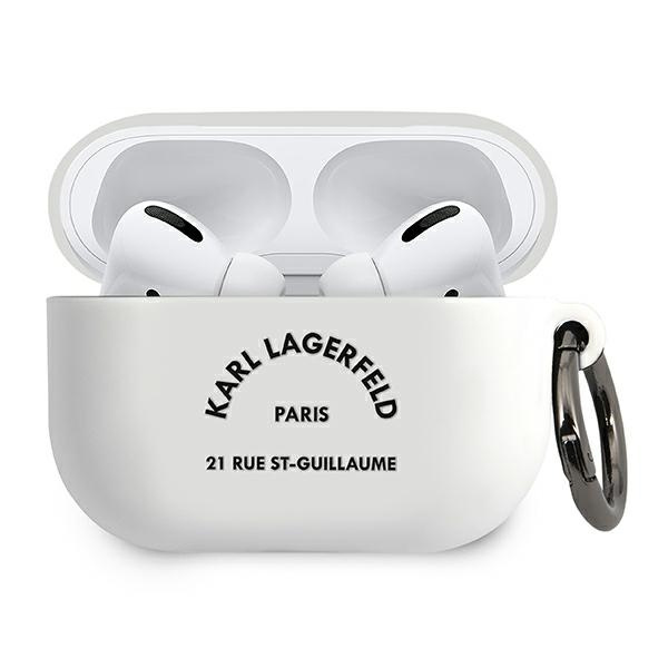 airpods - karl lagerfeld klacapsilrsgwh apple airpods pro cover white silicone rsg - 1 - krytaren.sk