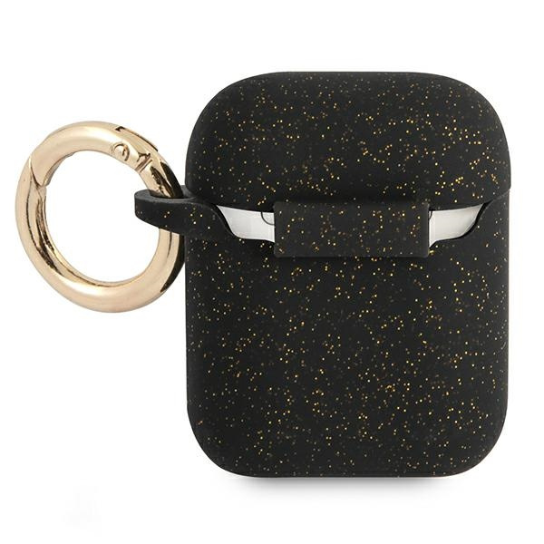 airpods - guess gua2sggek apple airpods cover black silicone glitter - 2 - krytaren.sk