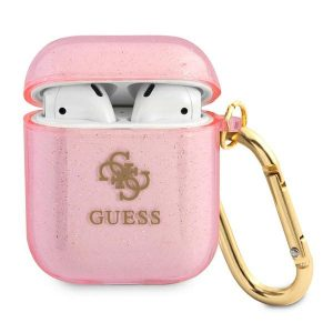 AirPods - Guess GUA2UCG4GP Apple AirPods cover pink Glitter Collection - 1 - krytaren.sk
