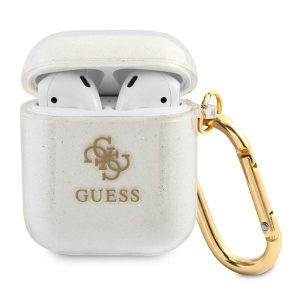 AirPods - Guess GUA2UCG4GT Apple AirPods cover Transparent Glitter Collection - 1 - krytaren.sk