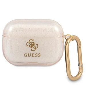AirPods - Guess GUAPUCG4GD Apple AirPods Pro cover gold Glitter Collection - 1 - krytaren.sk