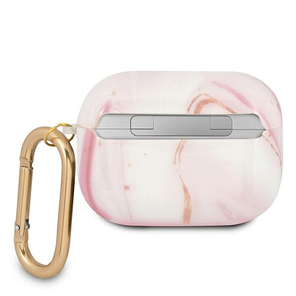 airpods - guess guapunmp apple airpods pro cover pink marble collection - 3 - krytaren.sk