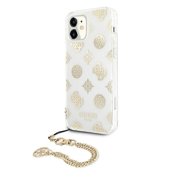 iphone 11 - guess guhcn61kspego apple iphone 11 gold hardcase peony chain collection - 2 - krytaren.sk