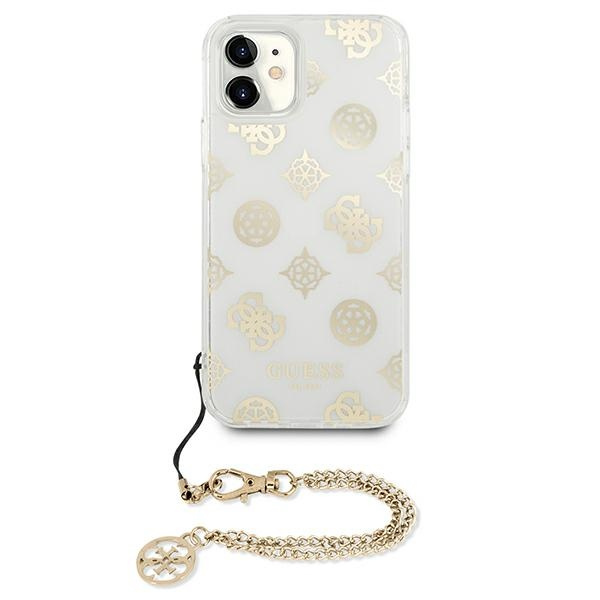 iphone 11 - guess guhcn61kspego apple iphone 11 gold hardcase peony chain collection - 3 - krytaren.sk
