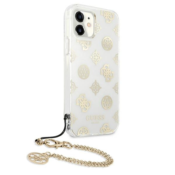 iphone 11 - guess guhcn61kspego apple iphone 11 gold hardcase peony chain collection - 4 - krytaren.sk