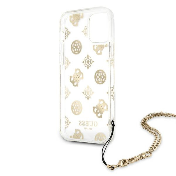 iphone 11 - guess guhcn61kspego apple iphone 11 gold hardcase peony chain collection - 7 - krytaren.sk