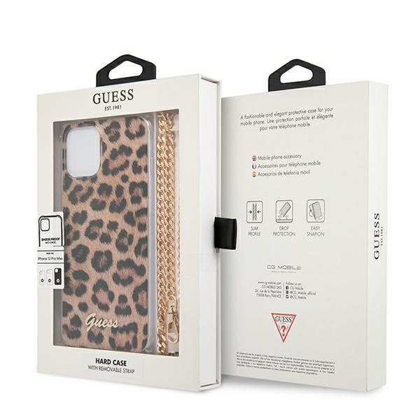 iphone 12 pro max - guess guhcp12lkcleo apple iphone 12 pro max leopard hardcase gold strap - 8 - krytaren.sk