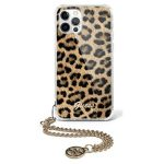 iPhone 12 Pro Max - Guess GUHCP12LKSLEO Apple iPhone 12 Pro Max Leopard hardcase Gold Chain - 1 - krytaren.sk