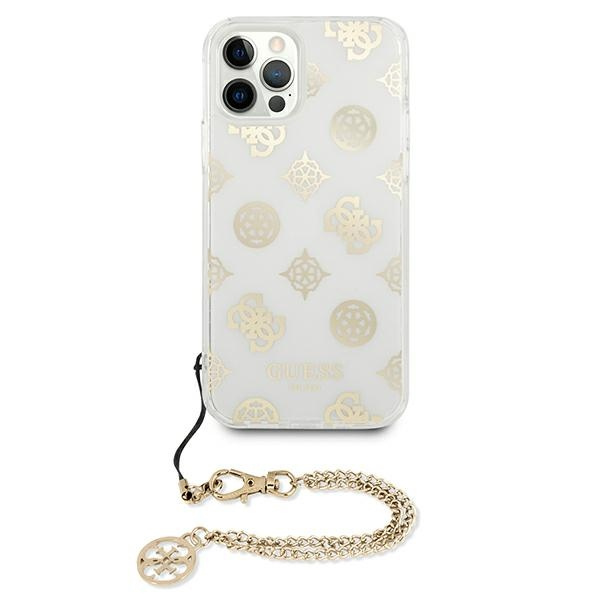 iphone 12 pro max - guess guhcp12lkspego apple iphone 12 pro max gold hardcase peony chain collection - 3 - krytaren.sk
