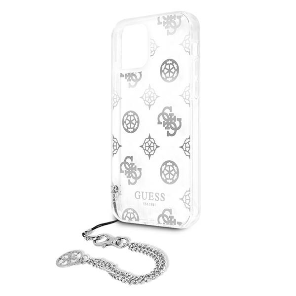 iphone 12 pro max - guess guhcp12lkspesi apple iphone 12 pro max silver hardcase peony chain collection - 6 - krytaren.sk