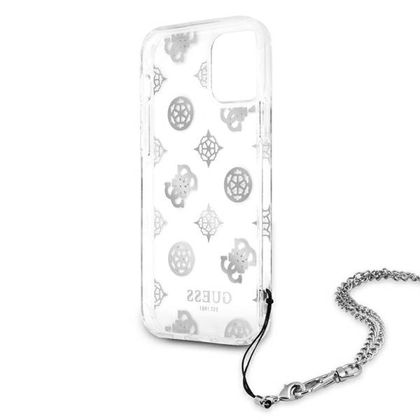 iphone 12 pro max - guess guhcp12lkspesi apple iphone 12 pro max silver hardcase peony chain collection - 7 - krytaren.sk
