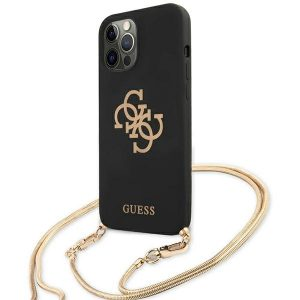 iPhone 12 Pro Max - Guess GUHCP12LLSC4GBK Apple iPhone 12 Pro Max black hardcase 4G Gold Chain Collection - 2 - krytaren.sk