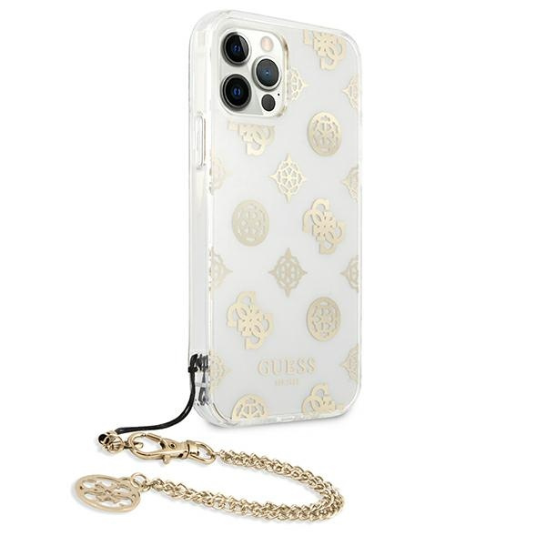 iphone 12 pro - guess guhcp12mkspego apple iphone 12/12 pro gold hardcase peony chain collection - 4 - krytaren.sk