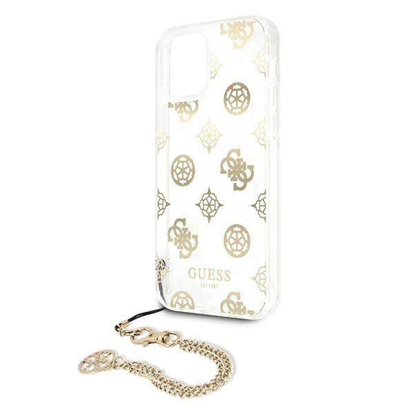 iphone 12 pro - guess guhcp12mkspego apple iphone 12/12 pro gold hardcase peony chain collection - 6 - krytaren.sk