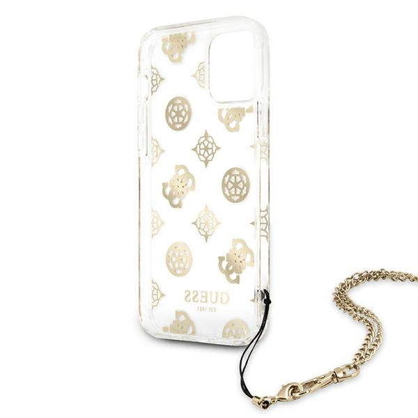 iphone 12 pro - guess guhcp12mkspego apple iphone 12/12 pro gold hardcase peony chain collection - 7 - krytaren.sk