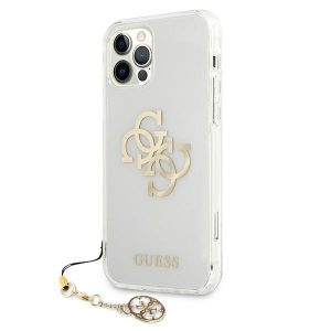 iPhone 12 Pro - Guess GUHCP12MKS4GGO Apple iPhone 12/12 Pro Transparent hardcase 4G Gold Charms Collection - 2 - krytaren.sk