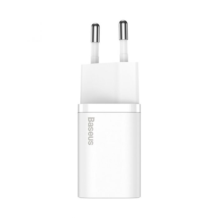 wall chargers - baseus super si quick charger 1c 25w with usb-c cable for usb-c 1m (white) - 3 - krytaren.sk