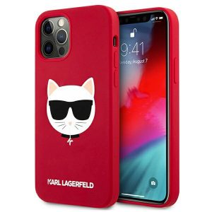 iPhone 12 Pro - Karl Lagerfeld KLHCP12MSLCHRE Apple iPhone 12/12 Pro hardcase red Silicone Choupette - 1 - krytaren.sk