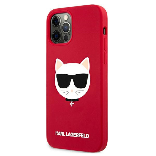 iphone 12 pro - karl lagerfeld klhcp12mslchre apple iphone 12/12 pro hardcase red silicone choupette - 2 - krytaren.sk