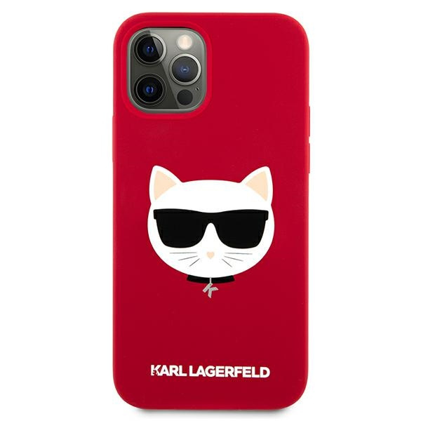 iphone 12 pro - karl lagerfeld klhcp12mslchre apple iphone 12/12 pro hardcase red silicone choupette - 3 - krytaren.sk
