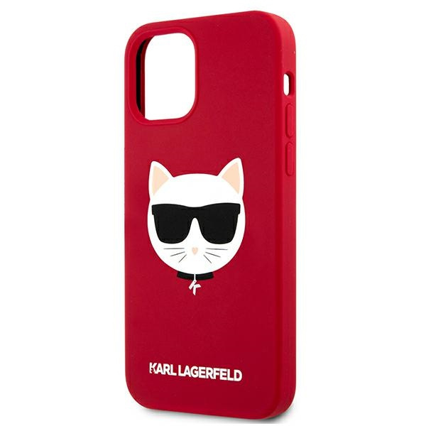 iphone 12 pro - karl lagerfeld klhcp12mslchre apple iphone 12/12 pro hardcase red silicone choupette - 6 - krytaren.sk