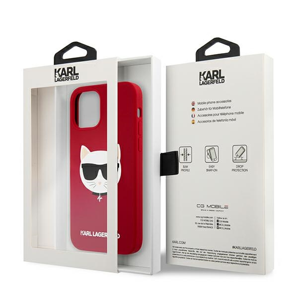 iphone 12 pro - karl lagerfeld klhcp12mslchre apple iphone 12/12 pro hardcase red silicone choupette - 8 - krytaren.sk