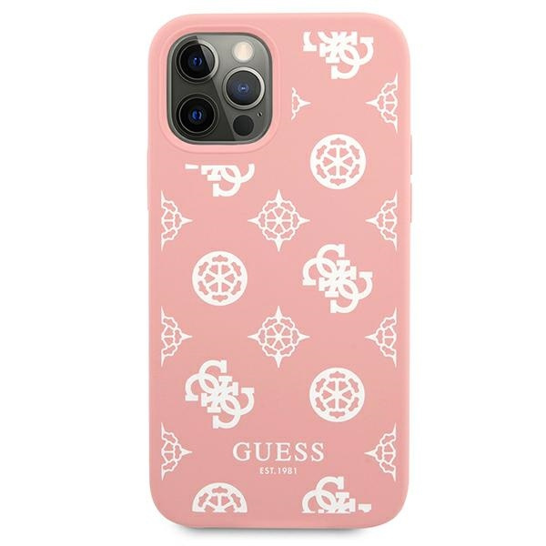 iphone 12 pro - guess guhcp12mlspewpi apple iphone 12/12 pro pink hard case peony collection - 3 - krytaren.sk