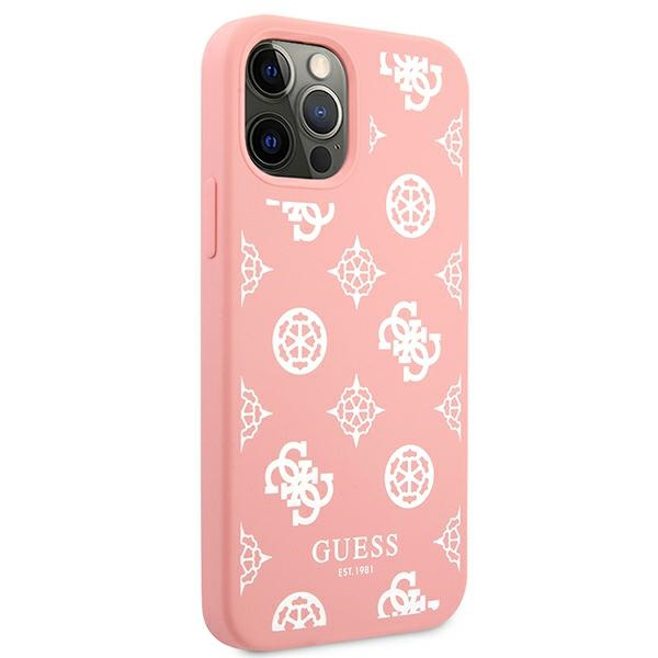iphone 12 pro - guess guhcp12mlspewpi apple iphone 12/12 pro pink hard case peony collection - 4 - krytaren.sk