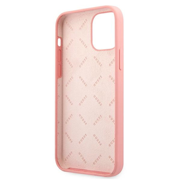 iphone 12 pro - guess guhcp12mlspewpi apple iphone 12/12 pro pink hard case peony collection - 7 - krytaren.sk